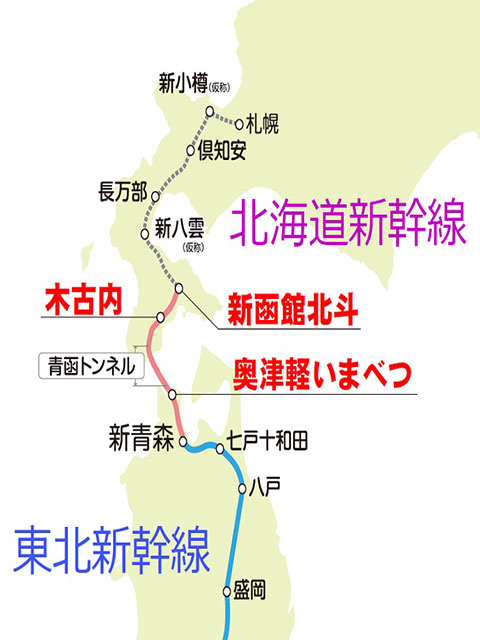 北海道新幹線 ルート