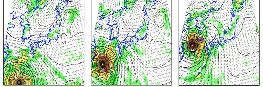 台風18号 2015 進路
